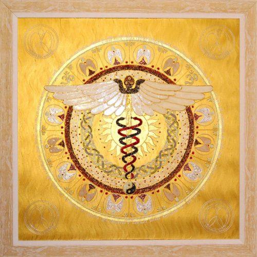 anjelská osobná mandala